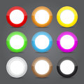 App icons glass set. Glossy button icons. Royalty Free Stock Photo