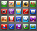 App icons set of glossy elaborate Royalty Free Stock Images