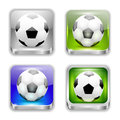 The app icons soccer on white Royalty Free Stock Photo