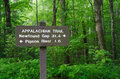 Appalachian Trail Sign Stock Photography
