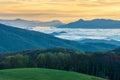 Appalachian Trail TN NC Sunrise Max Patch Royalty Free Stock Photo