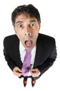 Appalled businessman Royalty Free Stock Photo