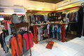 Apparel buyers choose in store in the town of solo central java indonesia Royalty Free Stock Photos