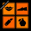 Apparel icon set Stock Image