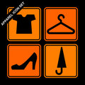 Apparel icon set Stock Photos