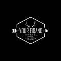 Apparel Logo, Clothing Brand Deer Antlers Logo Vector Design