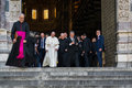 The appearance of Pope Francis official representative of the Roman Catholic Church. Royalty Free Stock Photo