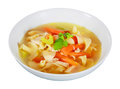 Appetite chiken soup Stock Photos