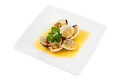 Appetizer of clams in sauce Royalty Free Stock Photos