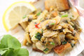 Appetizer of fried portuguese clams conquilhas Stock Images
