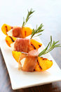 Appetizer with grilled peach Royalty Free Stock Photo