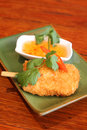 Fish stick, Thai entree. Royalty Free Stock Photo
