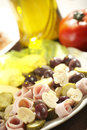 Appetizer with olives Stock Photography
