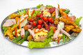 Appetizer platter food mix menu Royalty Free Stock Photo