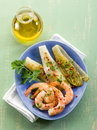 Appetizer with shrimp and grilled Royalty Free Stock Photography