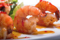 Appetizer with shrimps Royalty Free Stock Photography