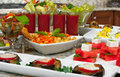 Appetizers mediterranean food different delicious Stock Photo