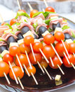 Appetizers Mix at wedding time Royalty Free Stock Photo