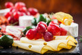 Appetizers platter antipasto and catering with different Royalty Free Stock Images
