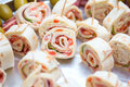Appetizers at wedding table Royalty Free Stock Photo