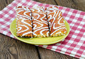 Appetizing cookies on a plate Royalty Free Stock Photography