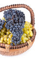 Appetizing grapes in a basket Royalty Free Stock Photo