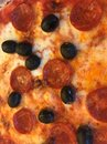 Appetizing piquant pizza Royalty Free Stock Photo