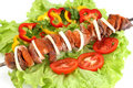 Appetizing shish kebab Royalty Free Stock Image