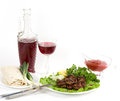 Appetizing weal kebab on skewers Royalty Free Stock Photography