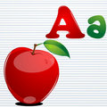 A for apple Royalty Free Stock Image