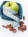 Apple in Basket Royalty Free Stock Photos