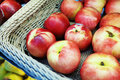 Apple in the Basket Royalty Free Stock Photo