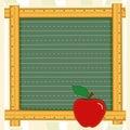 Apple blackboard frame teacher Стоковое Изображение