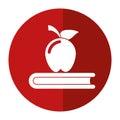 Apple book school symbol shadow