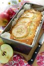 Apple cake pan a home baked with pieces Royalty Free Stock Photo
