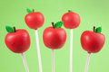 Apple cake pops Stock Images
