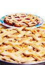 Apple & cherry pies Stock Photo