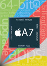 Apple a chip illustration of the new with huge group of related terms and specifications gathering together on color background on Stock Photography