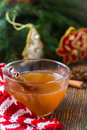 Apple cider rum punch hot drink for a fun and festive christmas holiday Stock Photos