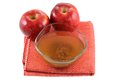 Apple cider vinegar with mother enzymes Royalty Free Stock Photo
