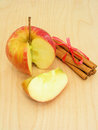 Apple and cinnamon sliced sticks Royalty Free Stock Photo