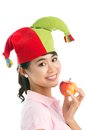 Apple clown Stock Image