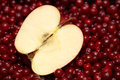 Apple and cranberries. Royalty Free Stock Photo