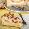 Apple Cream Cheese Coffee Cake Royalty Free Stock Photography