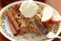 Apple crisp with icecream Royalty Free Stock Photography