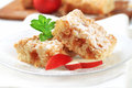 Apple crumb cake pieces of Royalty Free Stock Photos