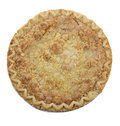 Apple crumb pie top view Stock Photo