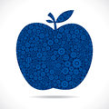 Apple design with blue gear Royalty Free Stock Photo
