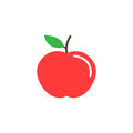 Apple flat icon, food and diet element, healthy