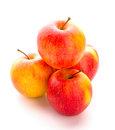 Apple four apples isolated over white background fresh fruit Stock Photo